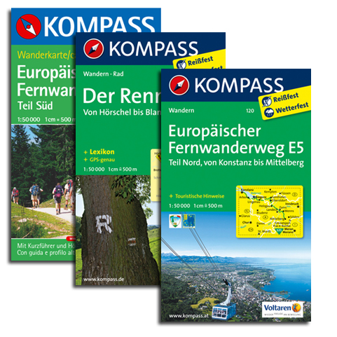 Kompass-Weitwanderkarten