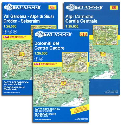 Tabacco-Karten Norditalien