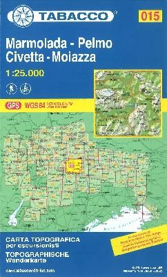 Blatt 15: Marmolada - Pelmo - Civetta - Moiazza
