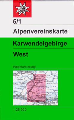 5/1 Karwendelgebirge, westl. Blatt