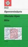 35/2 Zillertaler Alpen, mittl. Blatt title=