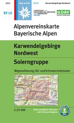 Blatt BY 10: Karwendelgebirge Nordwest
