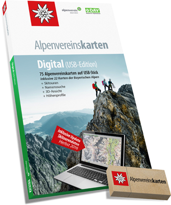 Alpenvereinskarten digital (USB-Edition)