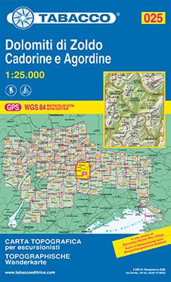 Blatt 25: Dolomiti di Zoldo Cadorine e Agordine - S.Vito