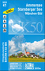 <p>UK 50-41 <br /><strong>Ammersee - Starnberger See und Umgebung<br /></strong>(UTM-Gitter, 1:50.000, 2015)</p>