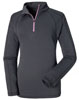 Frauen Long Sleeve Quarter Zip - Periscope Grey title=