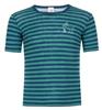 Kinder Kurzarm-Shirt, geringelt: Light Ocean/Eisvogel title=