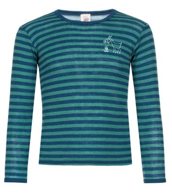 Kinder Langarm-Shirt, geringelt, Light Ocean/Eisvogel