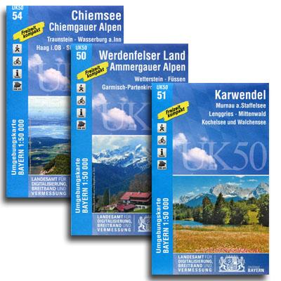 Topo-Karten Bayern
