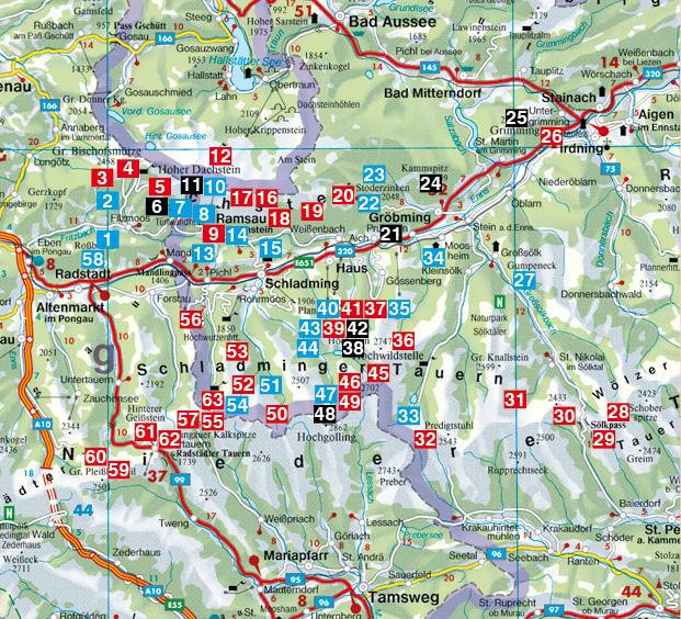 Dachstein Karte.Dav Shop Artikeldetails Dachstein Tauern Ost Rother