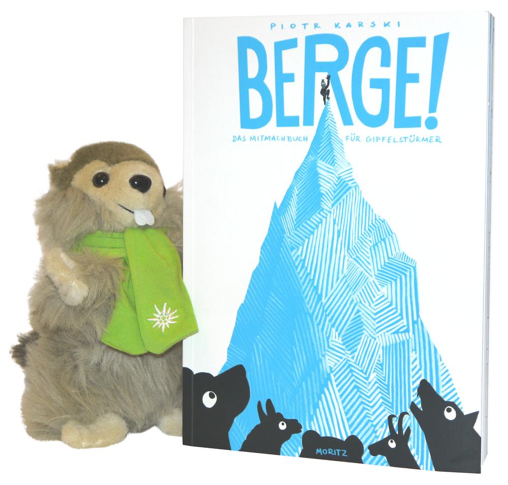 BERGE! Kinderbuch mit Murmeltier im SET
