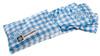 Alpenvereins-Hüttenschlafsack, 100% Baumwolle, blau-kariert, Normalgröße title=