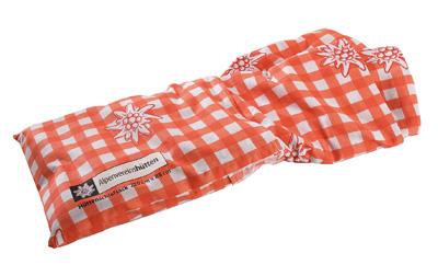 Alpenvereins-Hüttenschlafsack, 100% Baumwolle, rot-kariert, Normalgröße
