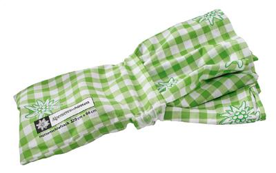 Alpenvereins-Hüttenschlafsack, 100% Baumwolle, grün-kariert, Normalgröße