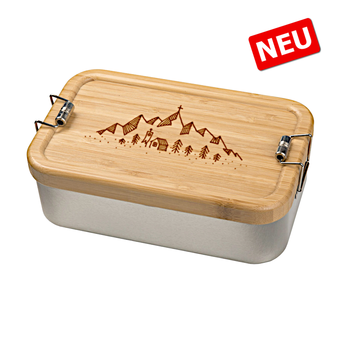 DAV Brotzeitbox mit Bambusdeckel