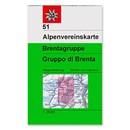 AV 51 Alpenvereinskarte WEG